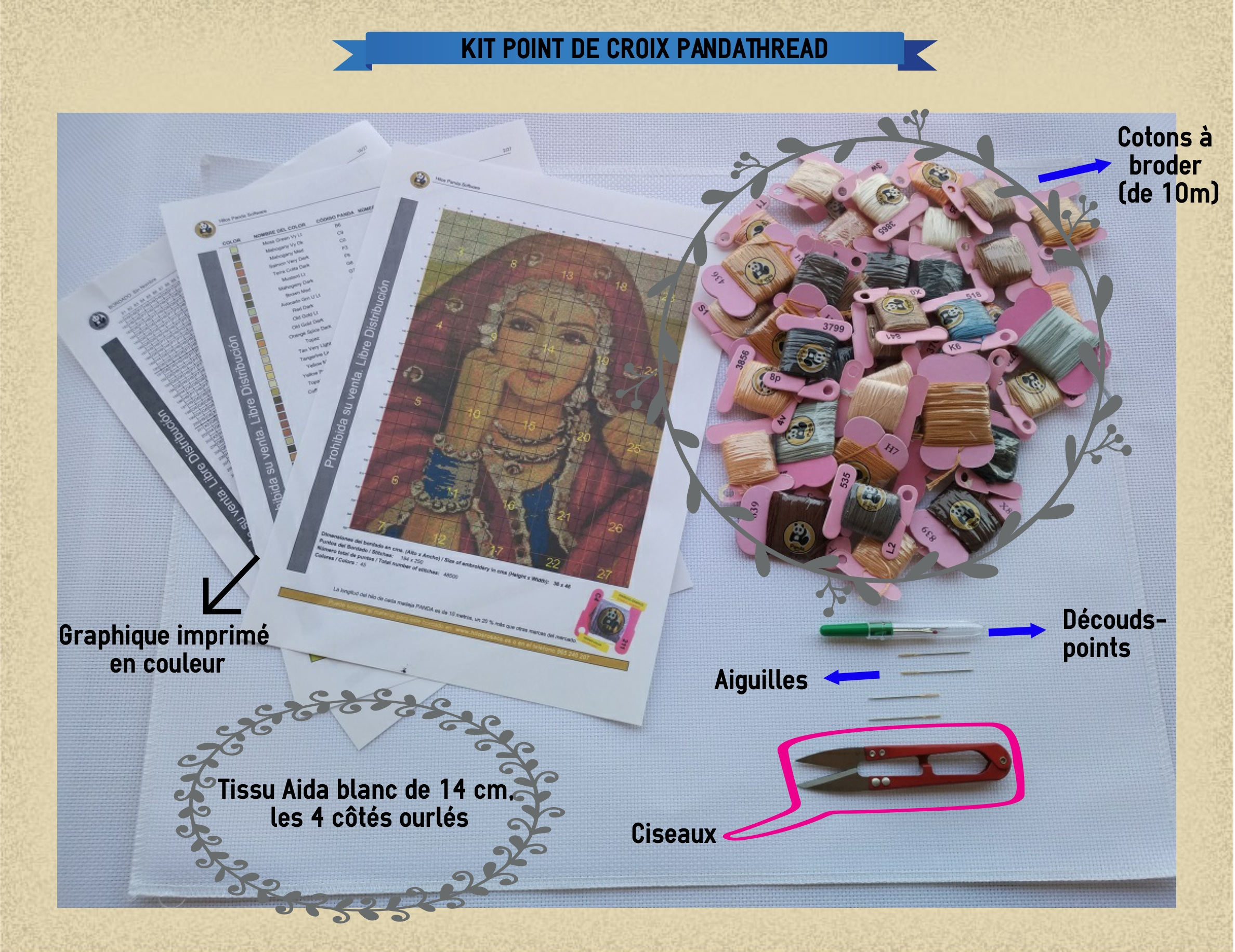 L Art Du Point De Croix cross de stitch point point kit, croix, 30115 croix