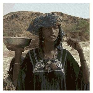 Kit de punto de cruz de 50 colores cultura africana